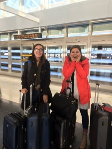 This was the picture taken before Meg and I traveled to Ireland. Hopefully going to Scotland won't be this nerve-wracking!