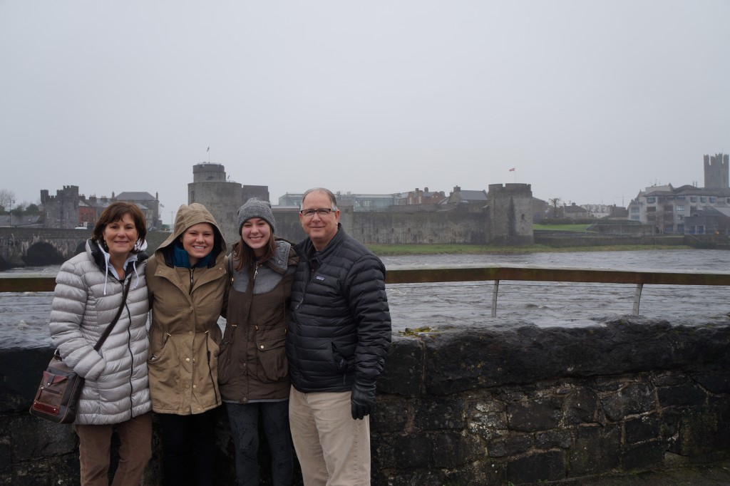 The fam at Limerick Castle on the way to the Cliffs!