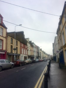 This is the main strip of the city Cobh. The buildings are all painted bright different colors - I love it!