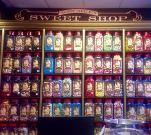 It's like Willy Wonka and the Chocolate Factory! So many different candies.