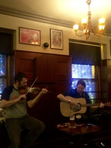 We all crowded into an upstairs pub and listened to the traditional songs that Andy and Booster played for us!