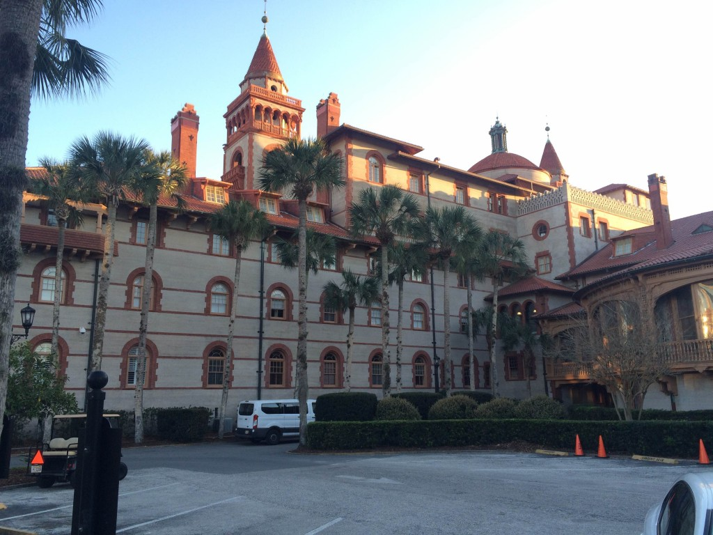 This historic building is in the center of the St. Augustine and it is part of the Flagler College.