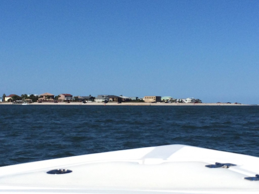 St. Augustine from the boat.