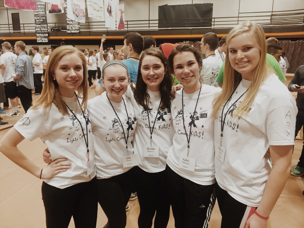 Some friends and I from last year's Dance Marathon!