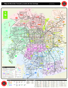 Just to show a map of Metro and Buses Public System in Santiago.