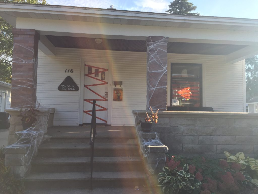 House with Halloween decorations