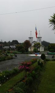 A great example of typical wooden church in Chiloé.