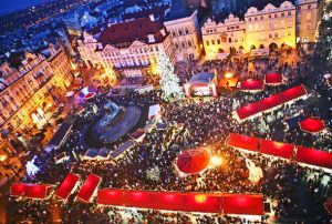 Prague´s Chirstmas Market from the air