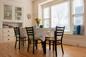Dining room inside a Hope College cottage.