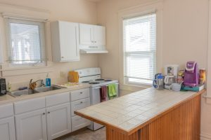 Kitchen in a Hope College cottage.