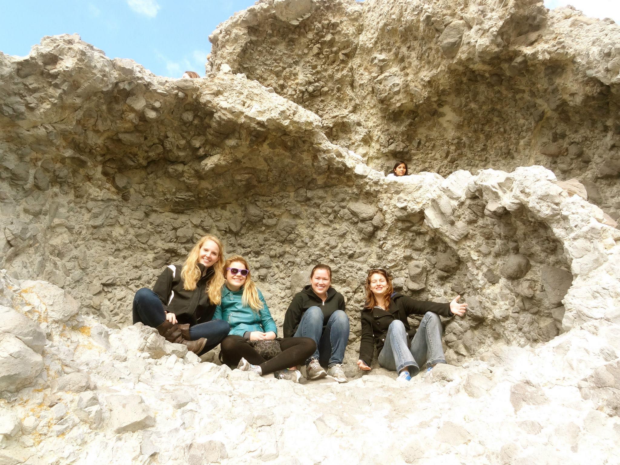 Climbing in Volcano Rocks
