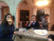 chilean fam enjoying pb&b toast