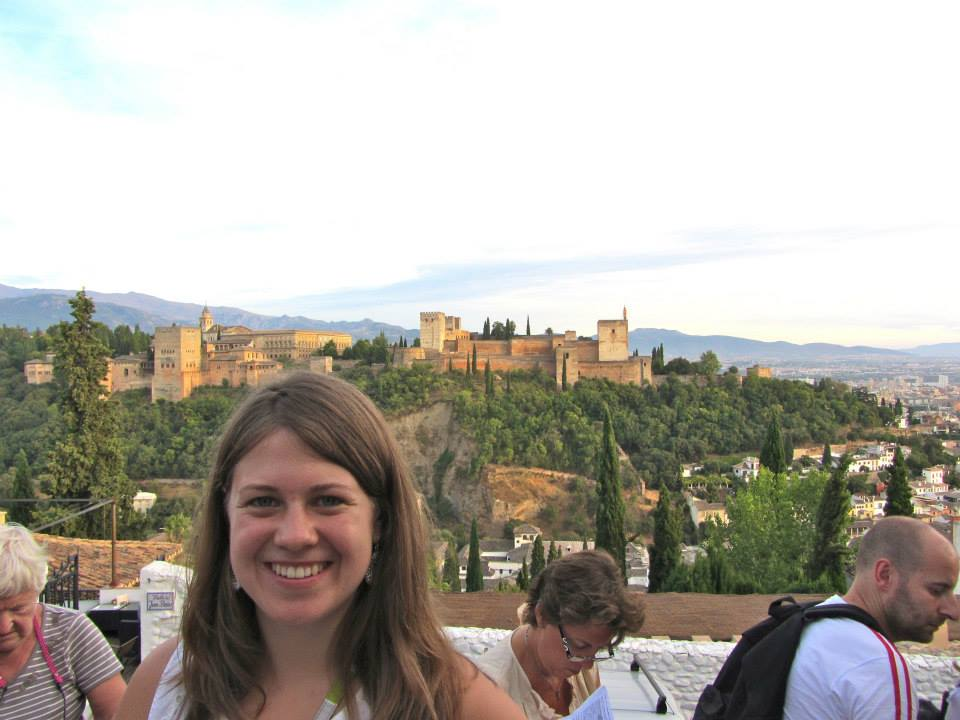 A view of the famous Alhambra from a plaza in the Albayzin neighborhood, which is the best place that we walked to during orientation. I hope to take a tour of the Alhambra at some point!