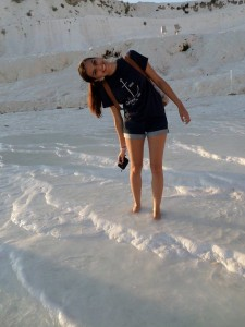 Goofing off in Pamukkale