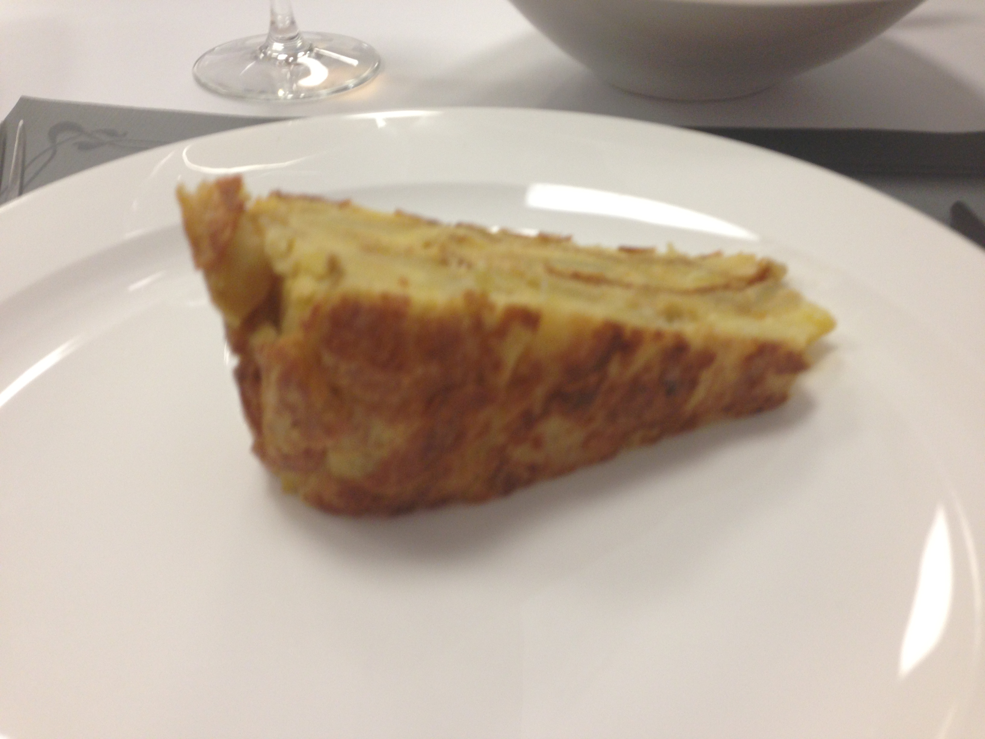Tortilla Espanola is one of my favorite foods that is made out of eggs, olive oil, and potatoes :)