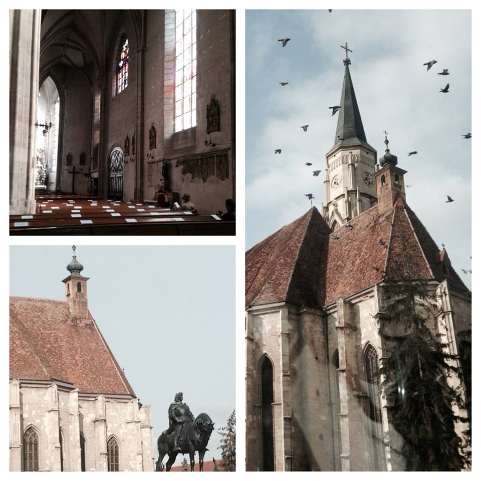 Part of my short tour of downtown Cluj was to visit the church in the main square