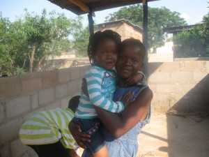 My sister, Letso, and their neighbor Anita. So cute!