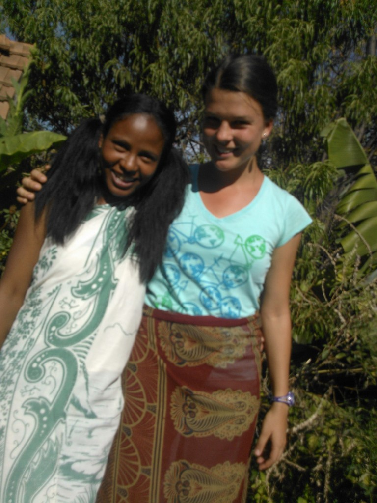 My 20 yr old host aunt and I  - she was a great friend and very helpful in my endeavour to learn Malagasy