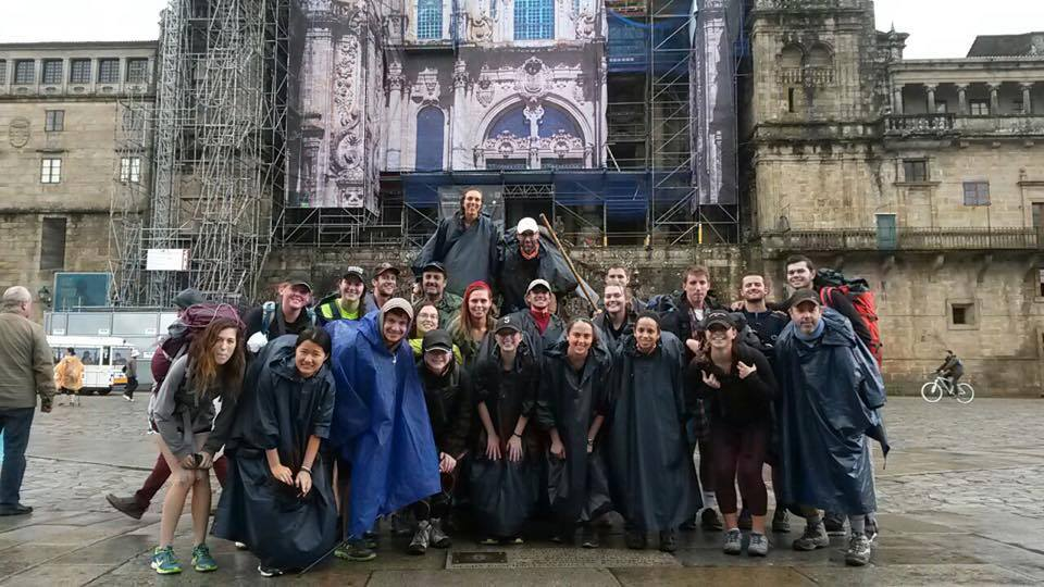 All 26 in front of the Cathedral in Santiago