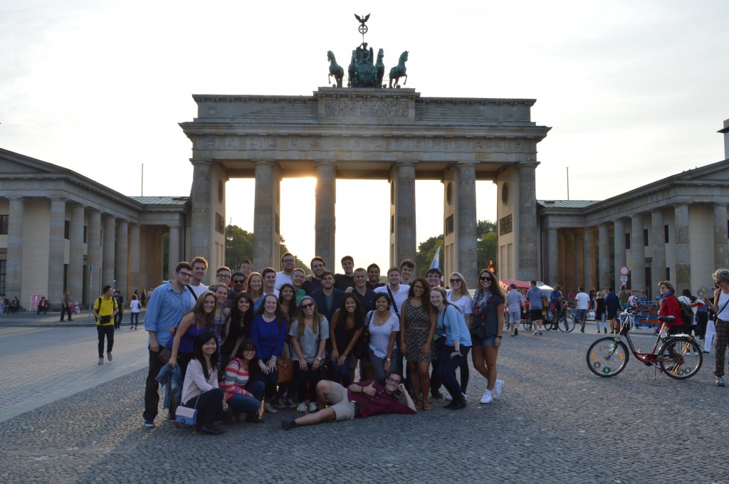 Brandenburg Gate, half of IES EU