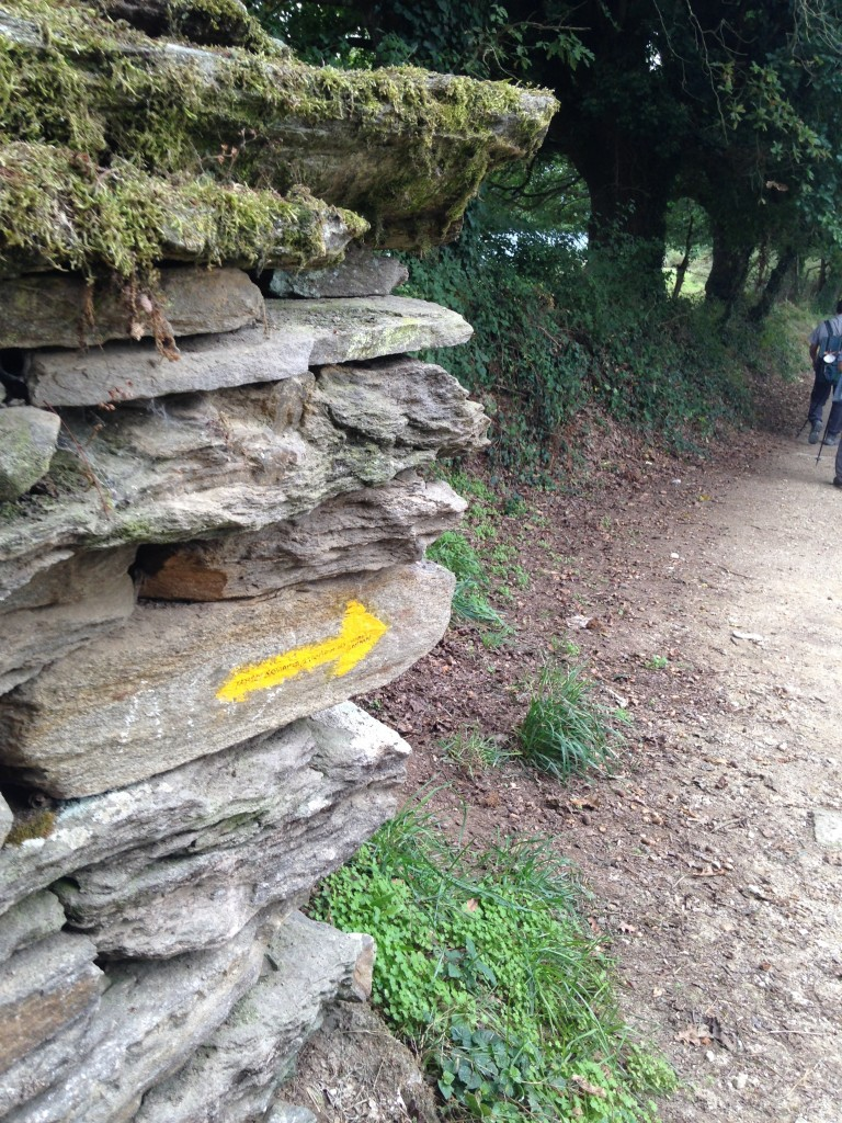 """The yellow arrows are found every few meters to guide you along """"The Way."""""""