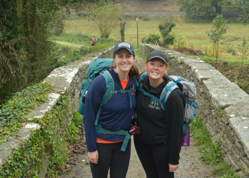 Myself and Kaleigh Mullen, a fellow Hope student as we began the Camino together!