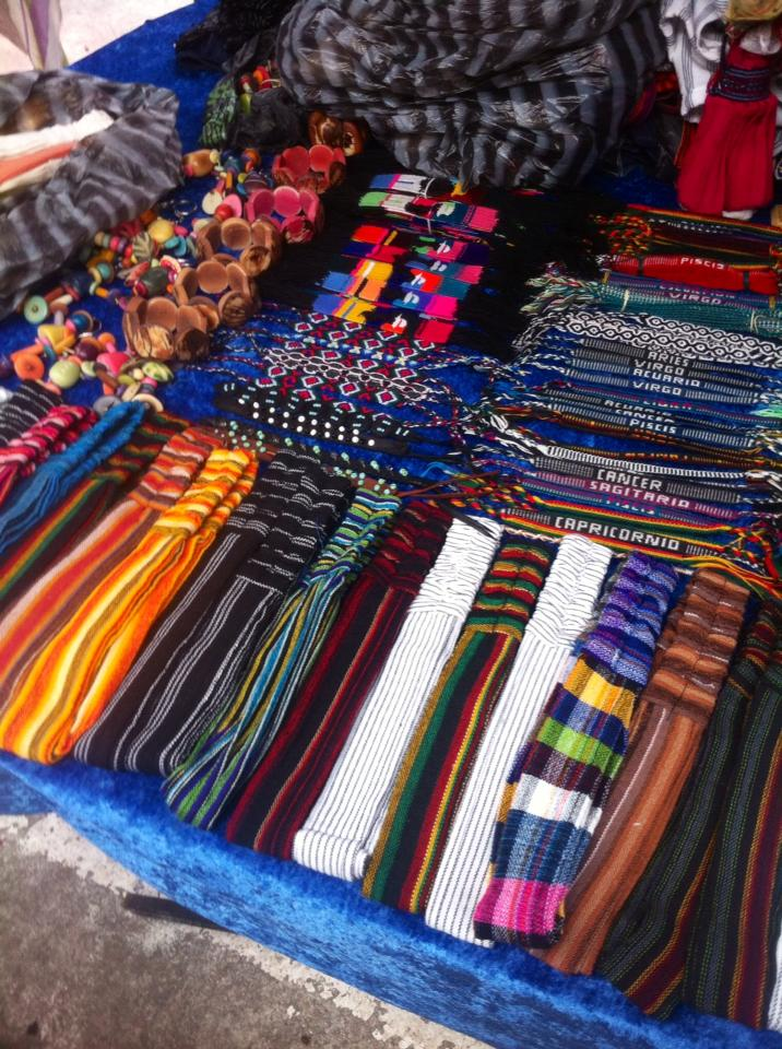 The different headbands & bracelets made by hand