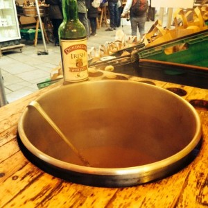 Some delicious hot apple cider with a touch of Irish at the Temple Bar Market