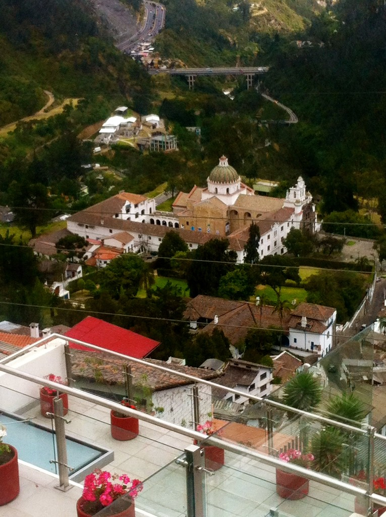 A view of one of the many churches in Quito