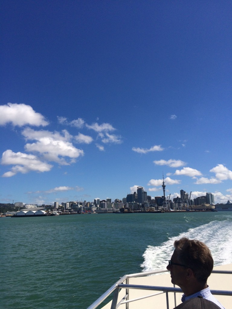 Ferry ride from downtown Auckland to a place called Davenport. Great beaches over there!