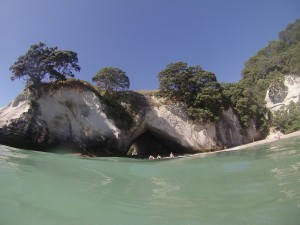Cathedral Cove from the water.