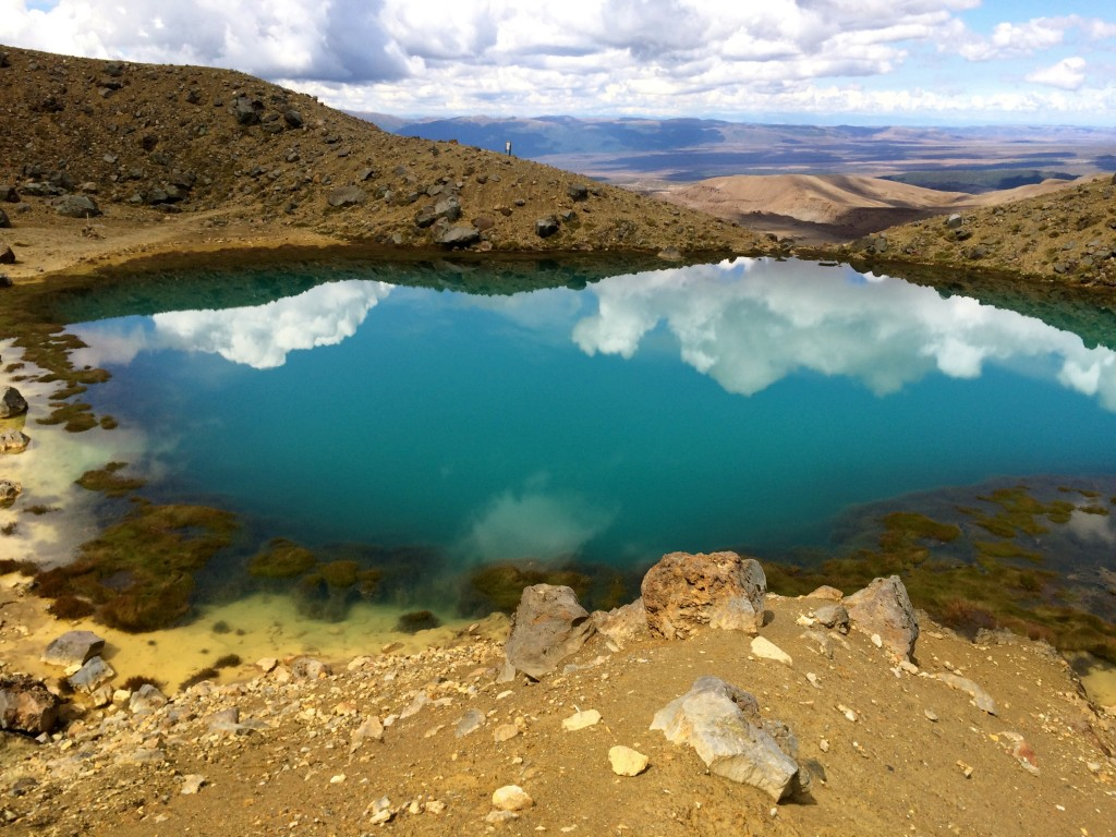 One of the Emerald Lakes on the Tongariro Alpine Crossing. Absolutely beautiful, apart from the stench of sulfur.