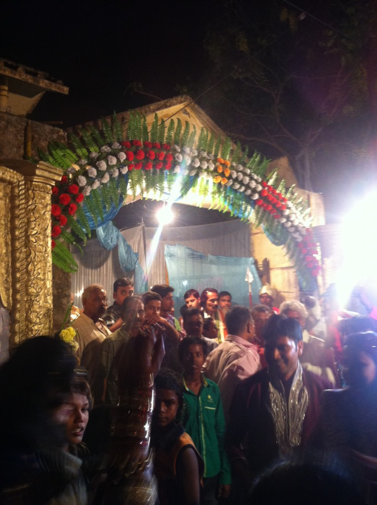 Entrance into the wedding
