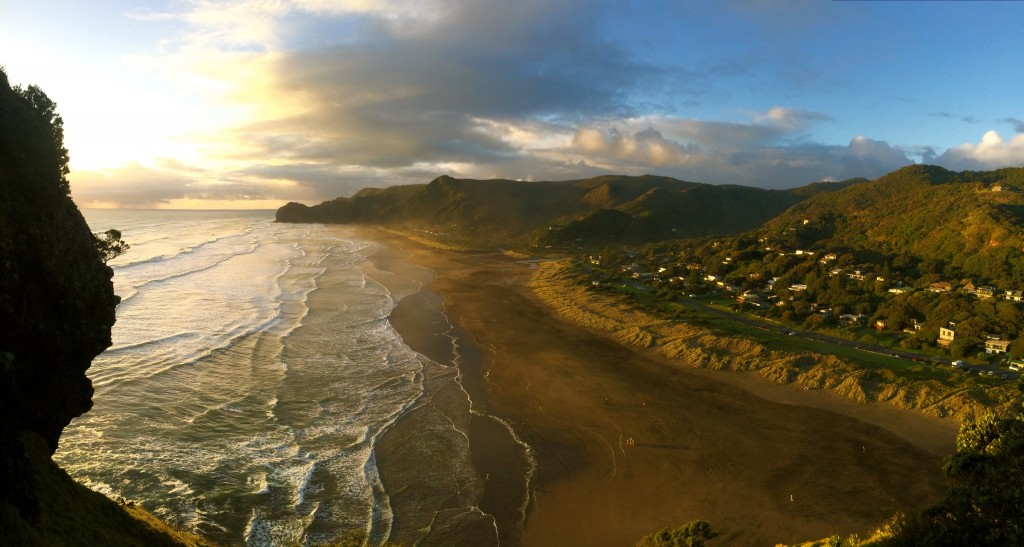 Such a beautiful view from the top of Lion Rock at Piha Beach.