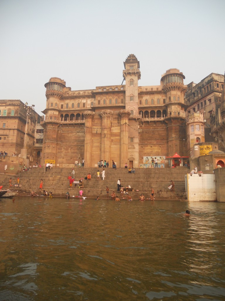 A ghat located along the Ganges.