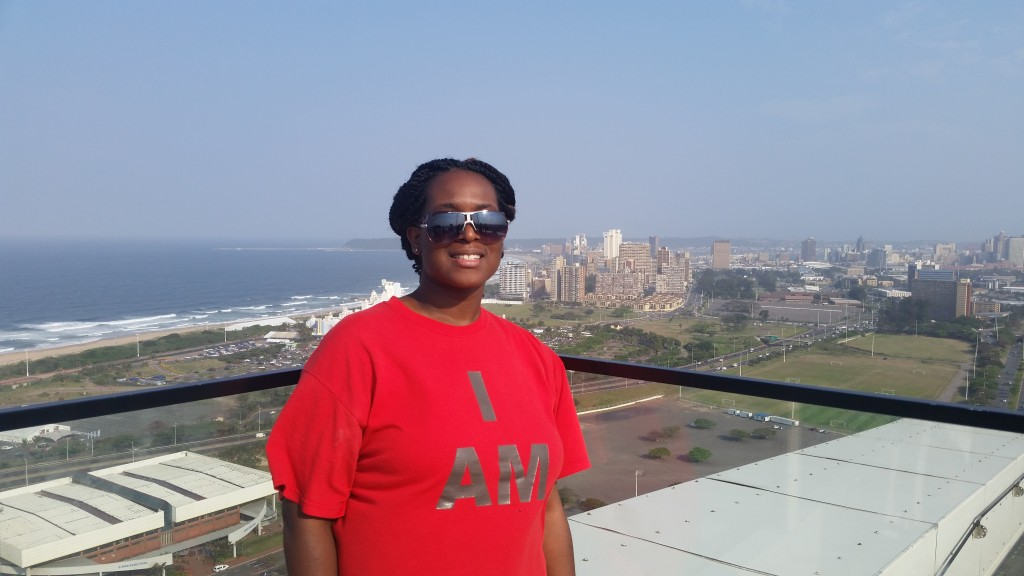 Me on the top of Moses Mabhida Stadium