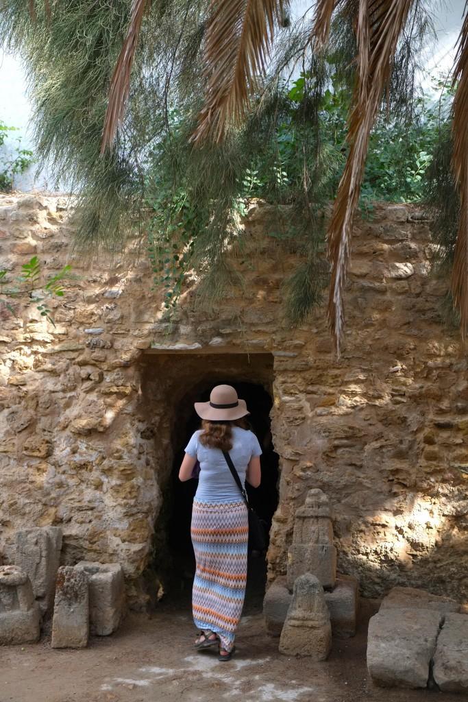 Exploring an ancient Phoenician cave.