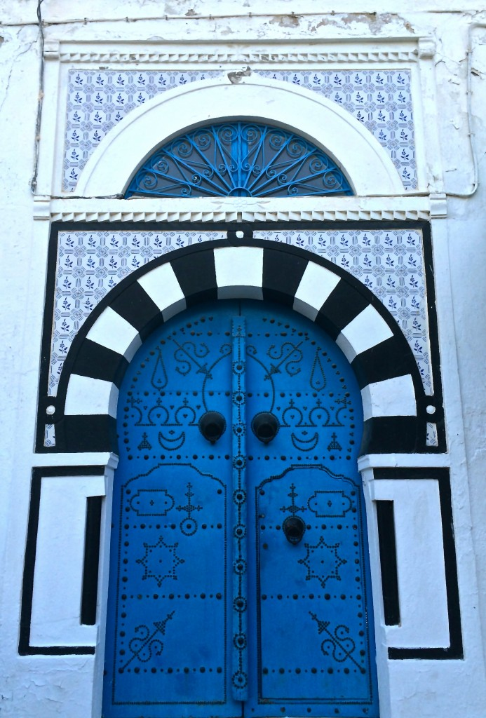 The SIT study center is located in Sidi Bou Said. All the doors in this town are painted blue.