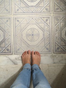My feet felt so clean after the hammam!