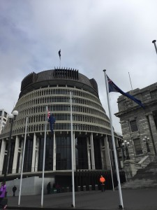 New Zealand's parliament building, The Beehive