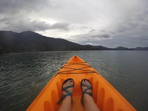 A peaceful kayak ride through the sounds