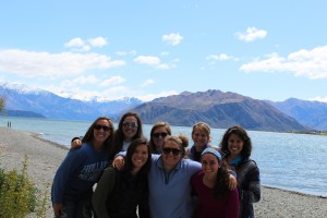 Group photo at Lake Wanaka