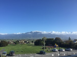 Beautiful view of the Kaikoura Mountain Range from the new hospital
