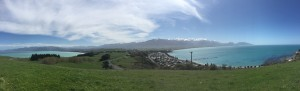 A panoramic view of Kaikoura from the penninsula