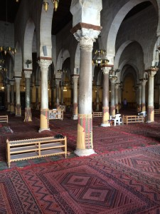 The inside of the mosque.