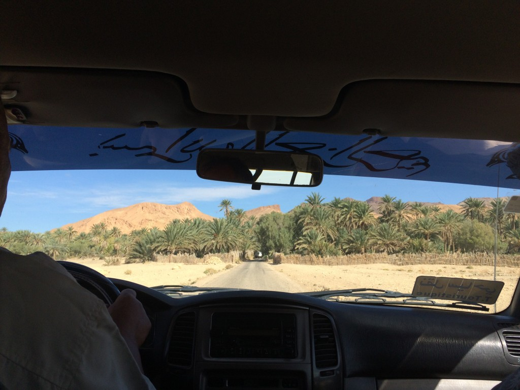 Approaching the oasis of Chebika.