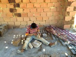 The brick-maker we met in Tozeur.