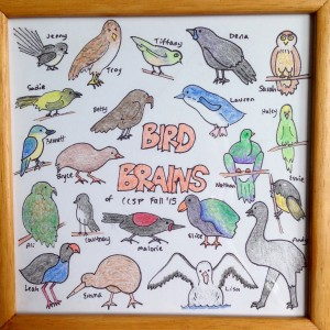 One of the students assigned each of us a New Zealand bird matching our personality as a gift!