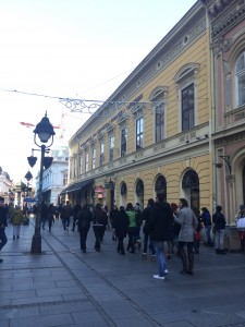 The main pedestrian street.