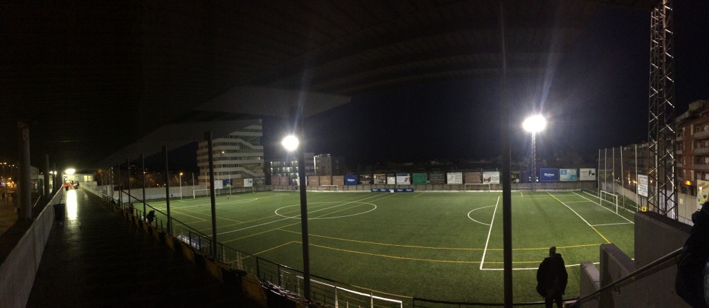 Pitch of 3rd tier side CF Montañesa, where we have play are games. This photo was also taken in late February!